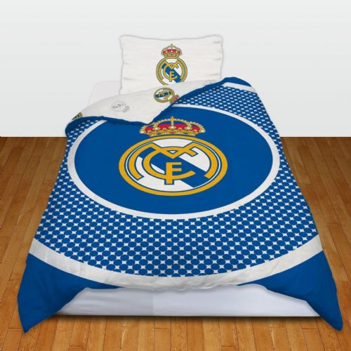 REAL MADRID FOOTBALL CLUB  SINGLE SIZE DUVET COVER BEDDING SET